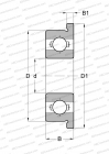 OPEN, WITH FLANGE, STANLESS STEEL BALL (AISI 316), INCH SIZE