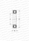 STANDARD VERSION, FOR MOUNTING IN PAIRS OR SETS, NON-CONTACT SEALS ON BOTH SIDES, LIGHT PRELOAD (FAG)