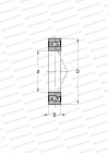 HIGH SPEED, NON-CONTACT SEAL, MOUNTING BY PAIR OR SETS,MEDIUM PRELOAD (SKF)