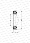 CERAMIC BALL, MOUNTING BY PAIR OR SETS, NON-CONTACT SEAL, HEAVY PRELOAD (FAG)