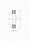 RINGS MADE OF STAINLESS STEEL CRONIDUR 30,CERAMIC BALLS, MEDIUM PRELOAD (BARDEN)