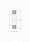 RINGS MADE OF STAINLESS STEEL CRONIDUR 30,CERAMIC BALLS, HEAVY PRELOAD (BARDEN)