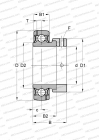 SERIE GRA..-NPP-B-AS2/V(INA), SEALS ON BOTH SIDE, 2 LUBRICATION HOLE OFFSET ON BOTH SIDE, INCH SIZE