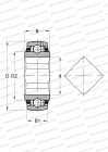 SERIE GVK(E)..-KTT-B(INA), SEALS ON BOTH SIDE, INNER RING WITH SQUARE BORE