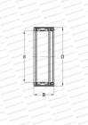 CLOSED END, METRIC, CAGED SHELL, SEAL RS