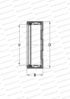 CLOSED END CAGED SHELL, SEALS P, INCH SIZE