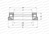 SINGLE DIRECTION, SEPARABLE, CYLINDRICAL ROLLERS, INCH SIZES,SELF-ALIGNING