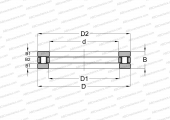 SINGLE DIRECTION, SEPARABLE, CYLINDRICAL ROLLERS, INCH SIZES
