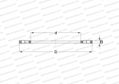 SINGLE DIRECTION,DOUBLE ROW,THRUST CYLINDRICAL ROLLER AND CAGE ASSEMBLY