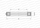 SINGLE DIRECTION, SEPARABLE, CYLINDRICAL ROLLERS, INCH SIZES, ADDITIONAL EXTERNAL RING, SERIE RWCT