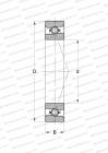 RINGS MADE OF STAINLESS STEEL CRONIDUR 30,HIGH SPEED, CERAMIC BALLS, MEDIUM PRELOAD (FAG)