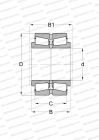 FOR VERTICAL ROLLS IN UNIVERSAL ROLL STANDS, DESIGN 1 (FAG)