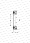 HIGH SPEED, DESIGN B, MOUNTING BY PAIR OR SETS, NON-CONTACT SEAL ON BOTH SIDE, HEAVY PRELOAD (SKF)